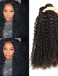 cheap -4 Bundles Malaysian Hair Curly Human Hair Natural Color Hair Weaves / Hair Bulk Human Hair Extensions 8-28 inch Natural Color Human Hair Weaves Best Quality New Arrival For Black Women Human Hair