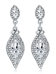 cheap -Crystal Drop Earrings Chandelier Solitaire Marquise Cut Drop Ladies Elegant Fashion Bridal Blinging Earrings Jewelry Silver For Wedding Party / Evening