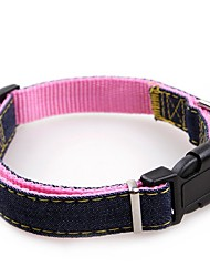 cheap -Dogs Cats Collar Walking Adjustable / Retractable Training Solid Colored Fabric Red Blue Pink