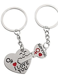 cheap -Keychain Gags & Practical Joke Heart School Cute Stainless steel 1 pcs Adults Teen All Boys' Girls' Toy Gift