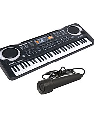 cheap -Electronic Keyboard Microphone Piano Works with iPad, iPod touch, and iPhone. Education Multi-Function 61 Key Unisex Boys' Girls' Kids Children's Toy Gift 1 pcs