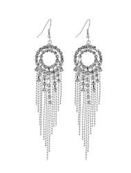 cheap -Women's Crystal Drop Earrings Tassel Earrings Jewelry Silver For Wedding Party