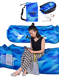 cheap -Air Sofa Inflatable Sofa Sleep lounger Inflatable Sleeping Pad Outdoor Waterproof Portable Fast Inflatable Ultra Light (UL) Polyester Taffeta 171*70*45 cm Fishing Beach Camping All Seasons Blue Sky