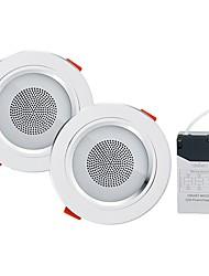 abordables -YouOKLight 2pcs 5 W 18 Perles LED Haut-parleur Bluetooth Encastré LED Encastrées RGB + Blanc 85-265 V Maison / Bureau