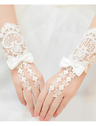 cheap -Lace / Breathable Mesh Wrist Length Glove Stylish / Bridal Gloves With Bows