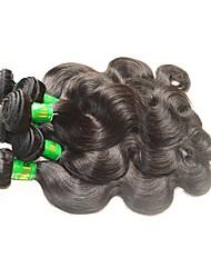 cheap -10 Bundles Indian Hair Body Wave Virgin Human Hair Remy Human Hair Human Hair Extensions Natural Color Human Hair Weaves Soft Smooth Hot Sale Human Hair Extensions / 10A