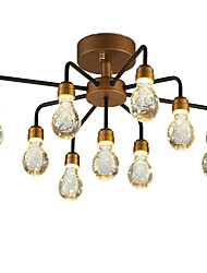 cheap -QINGMING® 9-Light 65 cm Mini Style Chandelier Metal Cluster Painted Finishes LED / Chic & Modern 110-120V / 220-240V / VDE