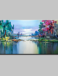 cheap -Mintura® Hand Painted Modern Abstract Landscape Oil Paintings On Canvas Wall Art Picture For Home Decoration Ready To Hang