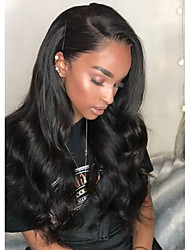 cheap -Synthetic Wig / Synthetic Lace Front Wig Wavy Kardashian Style Side Part Lace Front Wig Black Brown Natural Black Synthetic Hair Women's Heat Resistant / Natural Hairline / African American Wig Black