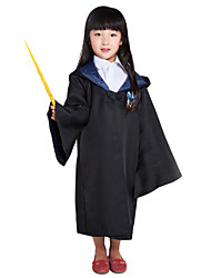 cheap -Witch Cosplay Costume Movie Cosplay Yellow / Red / Green Cloak Christmas Halloween New Year