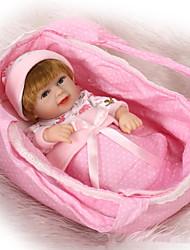 cheap -NPKCOLLECTION NPK DOLL Reborn Doll 12 inch Silicone - Newborn lifelike Cute Child Safe Non Toxic Hand Applied Eyelashes Kid's Boys' / Girls' Toy Gift