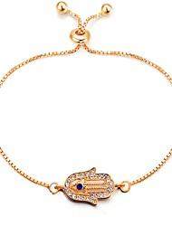 cheap -Women's Chain Bracelet Ladies Classic Vintage Fashion Alloy Bracelet Jewelry Gold Hamsa Hand For Daily Date
