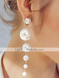 cheap -Women's Pearl Drop Earrings Long Drop Ladies Classic Imitation Pearl Earrings Jewelry White For Daily
