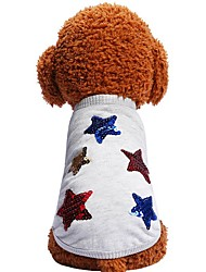 cheap -Dogs Cats Pets Shirt / T-Shirt Dog Clothes Gray Costume Dalmatian Beagle Pug Cotton / Polyester Geometic Quotes & Sayings Stars Trendy Fashion XS S M L XL