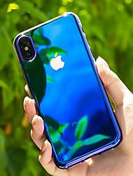 Недорогие -Кейс для Назначение Apple iPhone X / iPhone 8 Pluss / iPhone 8 Прозрачный / Градиент цвета Кейс на заднюю панель Градиент цвета Твердый ПК