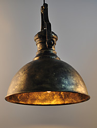 cheap -1-Light 30 cm Pendant Light Metal Bowl Painted Finishes Rustic / Lodge / Retro Vintage 110-120V / 220-240V