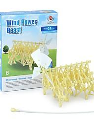 Недорогие -Конструкторы мини Beast 3D в мультяшном стиле Ручная работа Ветровая энергия Старшая школа Все Мальчики Девочки Игрушки Подарок 1 pcs