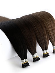 cheap -Neitsi Fusion / I Tip Human Hair Extensions Straight Remy Human Hair Human Hair Extensions Brazilian Hair Black Blonde 1pack Extention New Arrival Hot Sale Women's Female Medium Brown