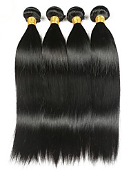cheap -4 Bundles Indian Hair Straight Human Hair Natural Color Hair Weaves / Hair Bulk Human Hair Extensions 8-28 inch Natural Black Human Hair Weaves Fashionable Design Best Quality Hot Sale Human Hair