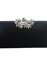 cheap -Women's Buttons / Crystals PU Leather Evening Bag Wedding Bags Black / Gold / Silver