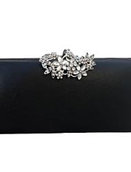abordables -Femme Boutons / Détail Cristal faux cuir Pochette Sacs de soirée en cristal strass Noir / Dorée / Argent