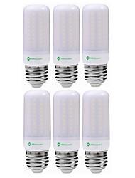 cheap -6pcs 5 W LED Corn Lights 1200 lm E14 G9 GU10 T 102 LED Beads SMD 2835 Decorative Warm White Cold White 220-240 V