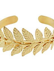 cheap -Women's Cuff Bracelet Leaf Ladies Vintage Fashion Alloy Bracelet Jewelry Gold For Ceremony Office & Career