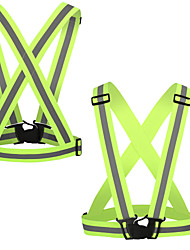 cheap -Reflective Vest Safety Vest Running Gear 2pcs Elastic Durable Class 2 High Visibility Portable Lightweight Versatile Adjustable Strap for Running Cycling / Bike Jogging Dog Walking