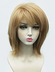 cheap -Synthetic Wig Straight Bob Side Part Wig Blonde Medium Length Blonde Synthetic Hair Women's African American Wig Blonde StrongBeauty