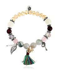 cheap -Women's Bead Bracelet Pendant Bracelet Leaf Ladies Fashion Colorful Coloured Glaze Bracelet Jewelry Rainbow For Daily