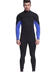 cheap -MYLEDI Men's Full Wetsuit 3mm Neoprene Diving Suit Thermal / Warm Waterproof Long Sleeve Back Zip - Swimming Diving Surfing