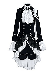 cheap -Inspired by Black Butler Ciel Phantomhive Anime Cosplay Costumes Japanese Outfits Color Block / Patchwork Long Sleeve Vest / Shirt / Skirt For Men's / Women's / Headpiece / Headpiece