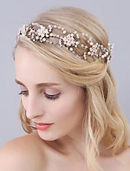 cheap -Imitation Pearl / Rhinestone Headbands with Crystals / Rhinestones 1 Piece Wedding / Party / Evening Headpiece