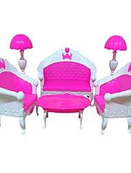 Недорогие -Кукольный домик Своими руками Предметы интерьера мини Мебель деревянный 6 pcs дошкольный Игрушки Подарок