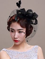 cheap -Hair Weft with Closure with Sided Hollow Out 1 Piece Carnival Headpiece