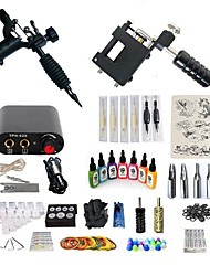 cheap -Tattoo Machine Starter Kit - 2 pcs Tattoo Machines with 7 x 15 ml tattoo inks, Professional, Kits Mini power supply Case Not Included 2 rotary machine liner & shader