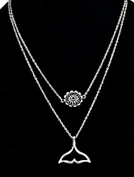 cheap -Pendant Necklace Chain Necklace Thick Chain Ladies Vintage Sweet Fashion Alloy Silver 55 cm Necklace Jewelry For Daily Street