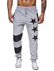 cheap -Men's Basic Sports Slim wfh Sweatpants Pants - Geometric Summer Black Dark Gray Light gray L XL XXL