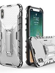 cheap -Case For Apple iPhone X / iPhone 8 Plus / iPhone 8 with Stand / Transparent Back Cover Armor Soft TPU