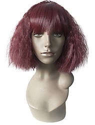 cheap -Synthetic Wig Curly Bob Layered Haircut Wig Short Red Synthetic Hair Women's Heat Resistant Women Synthetic Red / Natural Hairline / Natural Hairline