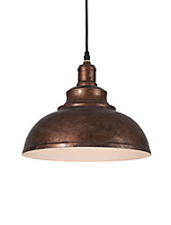 cheap -Diameter 29cm Vintage Industrial Style Loft Pendant Lights Metal Living Room Bedroom Kitchen Dining Room Pendant Lamp