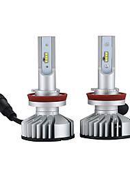 abordables -2pcs H9 / H11 / H8 Automatique Ampoules électriques 25W LED Intégrée 3000lm 2 LED Lampe Frontale For Nissan / Mazda / Jeep Sentra / Quest