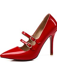 cheap -Women's Heels Stiletto Heel Pointed Toe Patent Leather Basic Pump Walking Shoes Spring & Summer Red / Pink / Nude / Daily