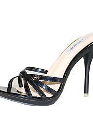 cheap -Women's Sandals Stiletto Heel Open Toe PU(Polyurethane) Slingback Summer Light Blue / Light Green / Nude / EU40