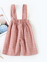 cheap -Baby Girls' Active Daily Polka Dot Print Cotton Overall & Jumpsuit Blushing Pink / Toddler