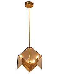 Недорогие -LightMyself™ 3-Light 36 cm Подвесные лампы Металл Стекло геометрический Золотой Деревенский стиль / LED 110-120Вольт / 220-240Вольт