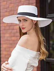 cheap -Natural Fiber Hats with Bowknot 1pc Casual / Daily Wear Headpiece