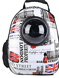 cheap -Dog Rabbits Cat Carrier Bag & Travel Backpack Waterproof Portable Mini Pet Oxford Cloth Classic British Fashion Dark Blue Gray