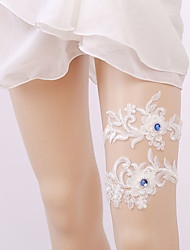 cheap -Gemstone / Lace Classic Jewelry / Vintage Style Wedding Garter With Gore Garters Wedding / Party & Evening