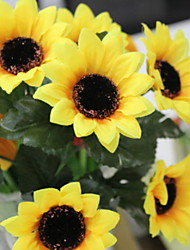 cheap -Artificial Flowers 7 Branch Stylish Rustic Sunflowers Basket Flower